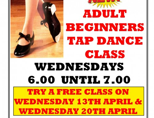Free Adult Tap dance class for beginners