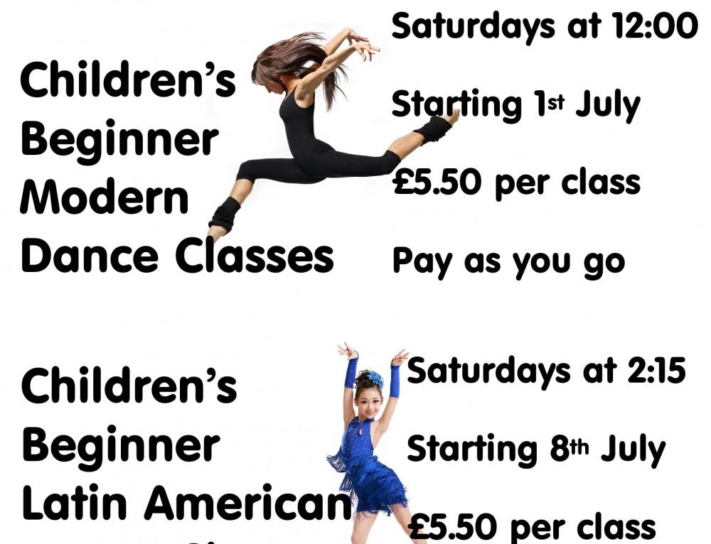 New Modern & Latin American classes for children