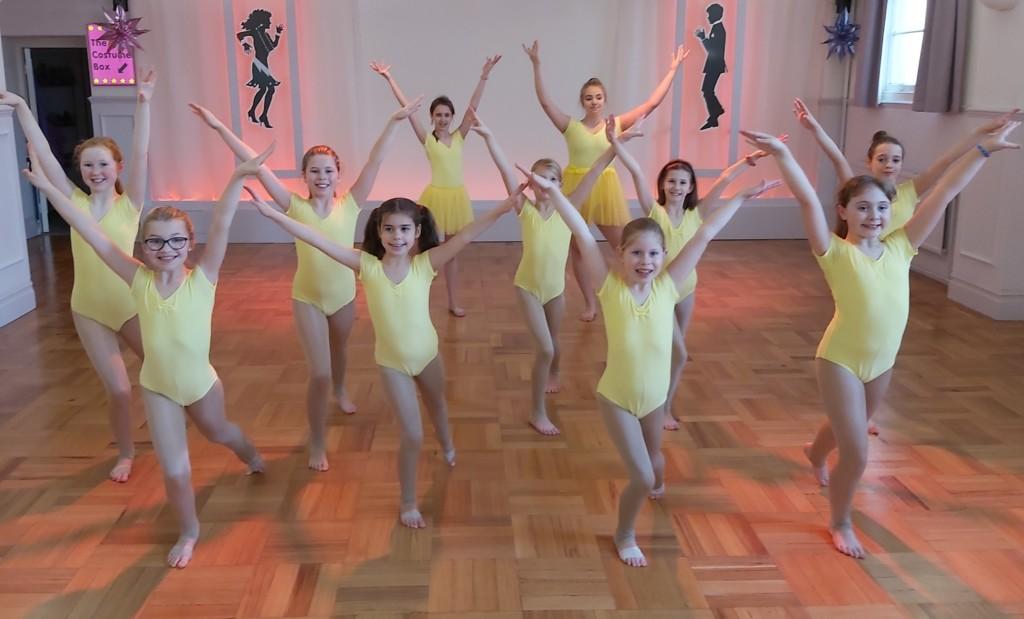 Modern dance class for children